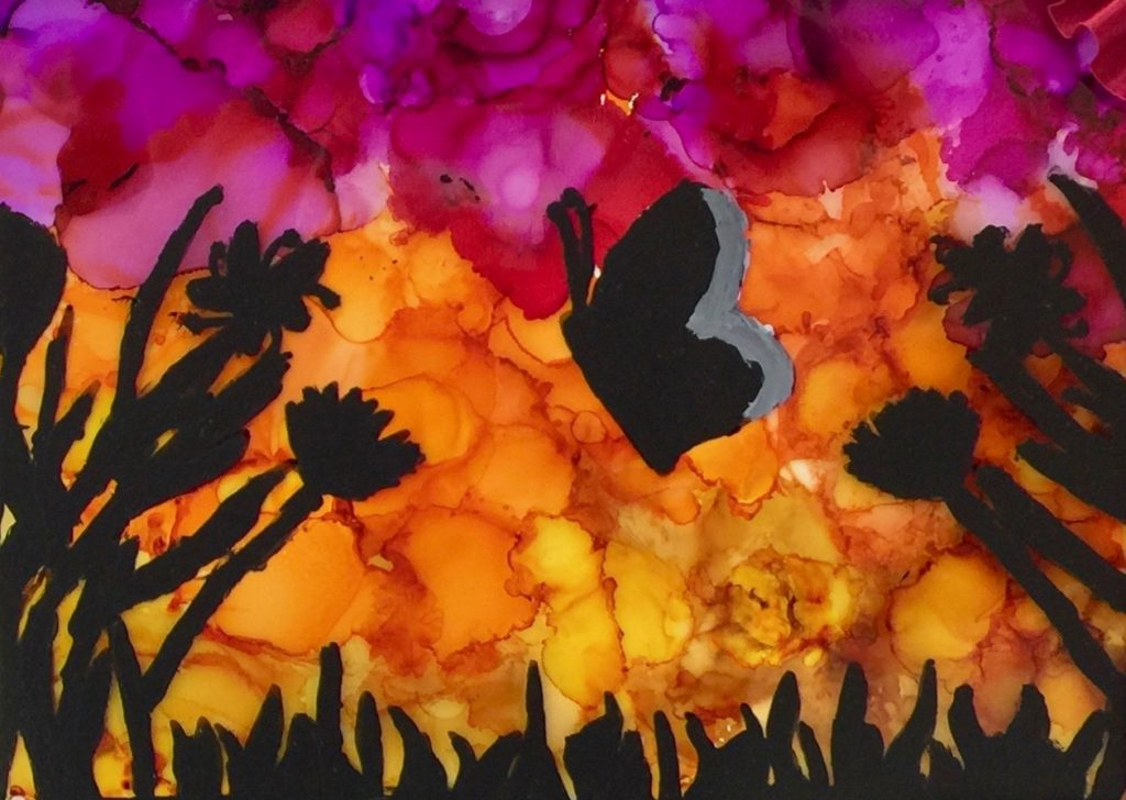 Gorgeous Middle School Art Project Silhouette Paintings On